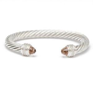 David Yurman 7mm Morganite & Diamond Bracelet